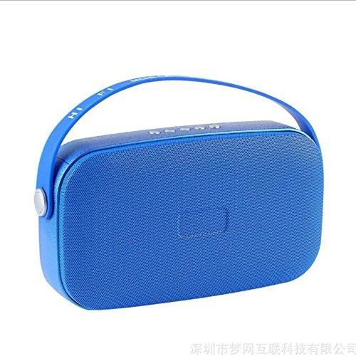 Unbekannt Bluetooth Lautsprecher Wireless Portable Mini-Stil FM Radio Eingebautes Mikrofon HD Voice Call Bequeme Bluetooth 4.1 Micro USB 3.5 Mm AUX TF Karte,Blue