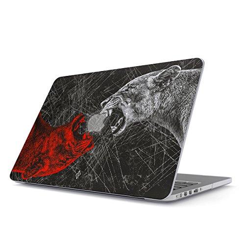 BURGA Hülle Kompatibel Für MacBook Pro 15 Zoll Aus Den Jahren 2012-2015, Modell: A1398 Retina Display Löwe Savage Wild Lion Mode Design Plastik Case (Savage Modell 64 Zubehör)