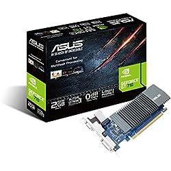 ASUS GT710-SL-2GD5 GeForce GT 710 2Go GDDR5 - Cartes Graphiques (GeForce GT 710, 2 Go, GDDR5, 64 bit, 2560 x 1600 Pixels, PCI Express x16 2.0)