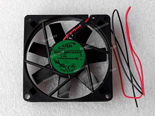 Ayazscmbs Kühler Lüfter kompatibe für ADDA 80mm x 15mm Slim Quiet Lüfter 12V Hypro Bearing 80x15mm AD0812LX-D70 -
