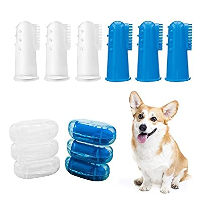 Horsky 6 x Pet Toothbrush Finger Toothbrush for Dogs Cats