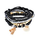 Kimruida Armband Mode Frauen Böhmischen Stil Multilayer Acryl Anhänger Perlen Kette