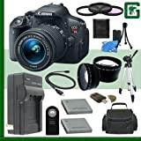 Canon EOS Rebel T5i Digital SLR Camera Kit With 18-55mm STM Lens Green's Camera Package 3