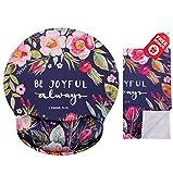 Bible Verses Be Joyful Stampa sempre Ergonomic Design Mouse pad cristiano con supporto per il sostegno del polso. Rotonda grande area del mouse. Panno per pulizia in microfibra coordinato.