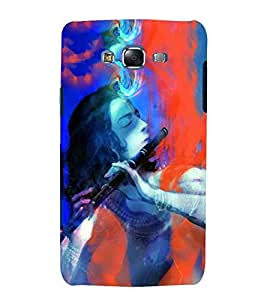 For Samsung Galaxy J5 (2015) :: Samsung Galaxy J5 Duos (2015 Model) :: Samsung Galaxy J5 J500F :: Samsung Galaxy J5 J500Fn J500G J500Y J500M krishna, kanha, god, baghwan, lord, jesus, cristrian, allah Designer Printed High Quality Smooth Matte Protective Mobile Case Back Pouch Cover by APEX