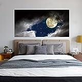 GOUZI Die Cloud auf der Leiter des Creative 3d - eine personalisierte Startseite Dekor Wandmalerei ist eine Voll-, 90 * 180 cm Abnehmbare Wall Sticker für Schlafzimmer Wohnzimmer Hintergrund Wand Bad Studie Friseur