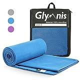 Glymnis Mikrofaser Handtücher Sporthandtuch Strandhandtuch Viele Größen und Farben für Sport Yoga Sauna Fitness und Strand schnelltrocknend saugfähig weich (Verpackung MEHRWEG)