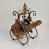 Antique crafts Europäischen weinregal eisenschaukel dekorative weinregal kreative weinflasche ausstellungsstand, B