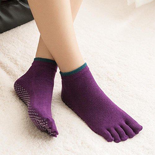 Green Deodorant (Yedda Nahum Sport Yoga Socken hochwertige fünf Zehen Anti-Rutsch-Socken Zehen Socken Baumwolle Socken Kunststoff geformt Deodorant Anti-Reibung atmungsaktiven Schweiß, Dark Green)