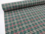 Confección Saymi Metraje 2,45 MTS Tejido Cuadros Ref. Escocés Color Verde, con Ancho 2,80 MTS.