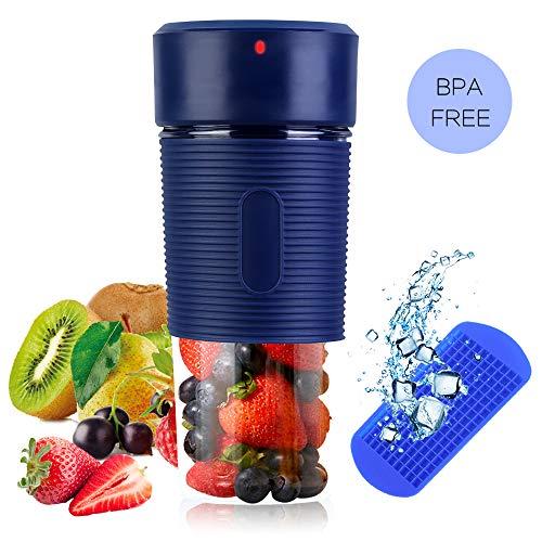 TIANG Licuadora portátil con USB Recargable/Mini batidora de Frutas con 350 ml de Vaso exprimidor sin...