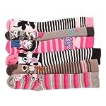 12 x Girls Kids Children Wellington Welly Animal Print Thermal Warm Long Socks