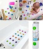 Baby Kinder Kleinkind Anti-rutschfester Sicherheits-Badteppich Punkte bunt von Munchkin