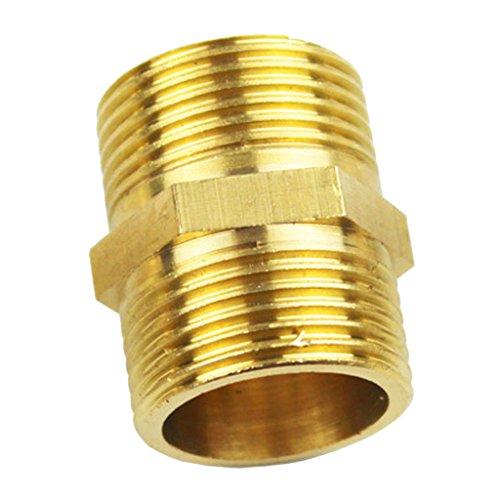 MagiDeal Messing Schlauchkupplung Schnellkupplung Doppel-End Verbinder 1/2, 1/4,1/8, 2 Zoll - 10x7mm 1/8