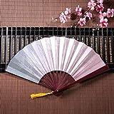 WYYWCY Fan de Papier Chinois Plume Arc-en-Ciel Patchwork avec Pendentif Gland Cadre...