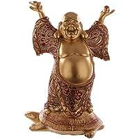Buddha Figur Gold Mit Stoff Auf Schildkrote Statue Buddafigur Feng Shui Buddhismus Grosser Budda
