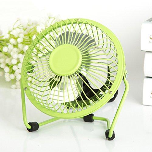 """4 """"Zoll Hochgeschwindigkeitsklimaanlage Zirkulatorventilator bewegliche 360 Grad justierbare Kühlung Hauptbürogebläse ( Farbe : Grün )"""