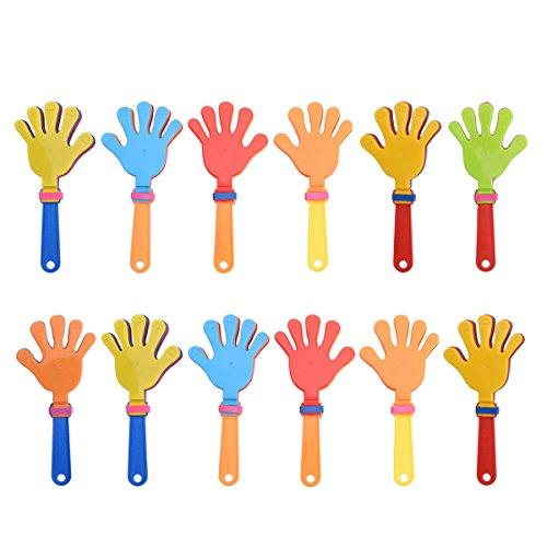 TOYMYTOY 12pcs plástica mano palmas juguete jadea los favores de partido noisemakers...