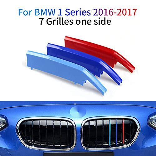 M colore Adesivi per griglia anteriore, Clip di Grille del rene, Grill Inserire copertine Per 1 Series 2016 2017 3 Pezzi (7 Rod)