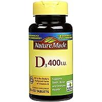 Nature Made - Vitamine D3 400 IU - 100 Comprimés
