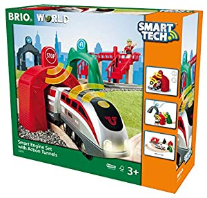 BRIO Smart Tech Set Circuito de Tren con Locomotora Inteligente (33873), Multicolor (RAVENSBURGER 1)