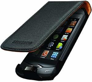 Housse  d'origine Samsung Wave S8500 en cuir- Noir