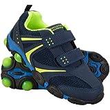 Mountain Warehouse Light Up Zapatos Junior - Zapatos duraderos, Calzado Ligero, Calzado Infantil Transpirable, Ajuste de Ganc