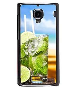 Fuson Designer Back Case Cover for Xiaomi Redmi 1S :: Xiaomi Hongmi 1S (Soda Lime Greenary Holiday Sip Couple Friends Young)