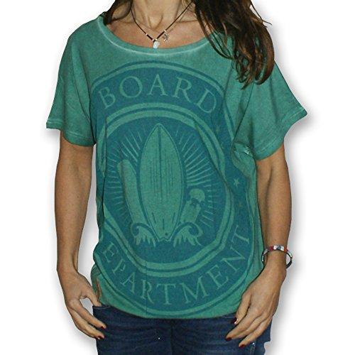 Board Department Brettgefüster Women T-Shirt Farbe Atlantis Melange (XL)
