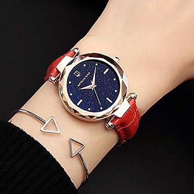 Reloj De Moda New Trend Starry Sky Watch Estudiante Femenino Casual Simple Cinturón Chica Personalidad Impermeable