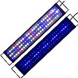 Aquarium beleuchtung Aquarien Eco Tageslichtsimulation Beleuchtung LED Aquarium Blau Weiß Rot voll Spectrum LED Reef Coral Fish Aquarium Licht Wasserpflanzen Gewächshaus Lichter Pflanzen Wachstumslampe für Süßwasser Meerwasser 60CM KA146
