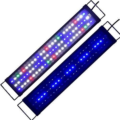 Aquarien Eco Aquarium LED Beleuchtung Tageslichtsimulation Aquarium Lampe für Süßwasser Meerwasser voll Spectrum Reef Coral Fish Wasserpflanzen Aquariumleuchte Aufsetzleuchte 75cm-95cm -