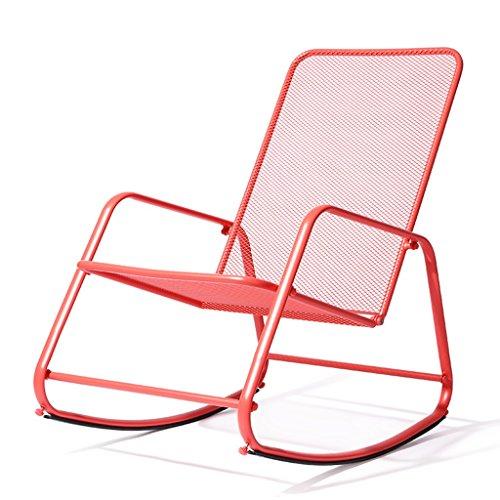 Rosa Schaukelstuhl Erwachsenen Lazy Chair Balkon Rocker Nordeuropa Casual Siesta Stuhl Recliners Sessel Sessel mit Fußstütze