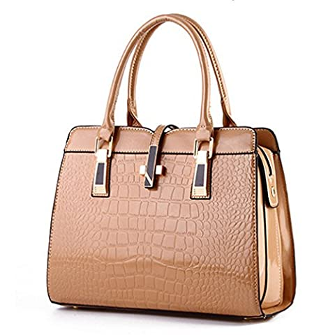 C.CHUANG Womens Euroupe and America Fashion Leather Elegant Big Tote Handbag(C7)