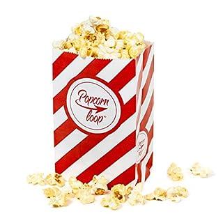 popcornloop Original Popcorntüten ● 5 x 10er Packungen ● Insgesamt 50 Stück ● Material: Papier ● Popcorn Tüten