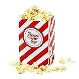 Popcorntüten Popcorn 50 Stück klein Candy Bar Tüten Box Hochzeit Süßigkeiten Boxen für Party Papier Behälter Rot Weiß gestreift Snackbox Geschenk Kinder Heimkino Zuhause