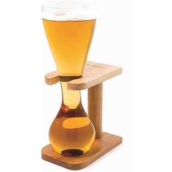 Viking Bière Corne Verre Avec Support 17 Oz/480 Ml   Viking Corne De Verre, Nouveauté Verre De