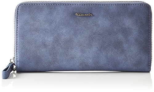 Tamaris-Damen-Svenja-Big-Zipped-Around-Wallet-Geldbrse-Blau-Blue-One-Size