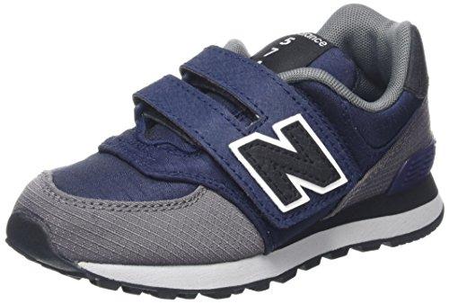 New Balance Unisex-Kinder Sneaker, Mehrfarbig (Navy/Grey), 39 EU (6 UK) (Mädchen Balance)