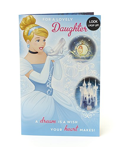 Disney Prinzessin Cinderella Tochter Geburtstagskarte Pop Out-Look I Pop Up.
