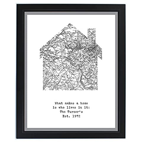 1805 - 1874 Old Series Map Home Framed Print. This is a great product that can be personalised to your requirements ( please see main discription for full details ) Ideal gifts and presents for weddings, Christenings, Birthdays, Christmas