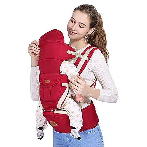 Babytrage Baumwolle Das Gesäß der Sitzträger Rutschfest Ergonomisches Design mehr Arten von Möglichkeiten zu tragen herausnehmbare Sitze tragbar Multifunktions Sonnenschutz Anti-Wind Babybauch