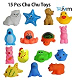 #5: Chu chu Bath toys Multi-color (1 Set - 15 Pcs)