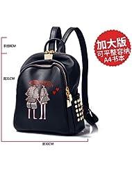 LiZhen elegantes bolsas de hombro doble marea hembra silvestre coreano mochila campus estudiantes pu suave cuero mama mochilas escolares paquete nueva caída