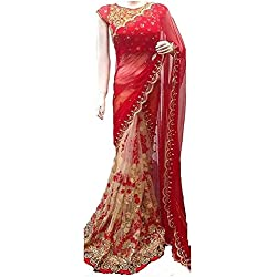 RH MART sarees for Women Embroidered Georgette Saree With Blouse Material
