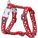 Red Dingo Desinger Dog Harness, White Spots on Red (20mm x Neck: 36-59cm / Body 45-66cm) M