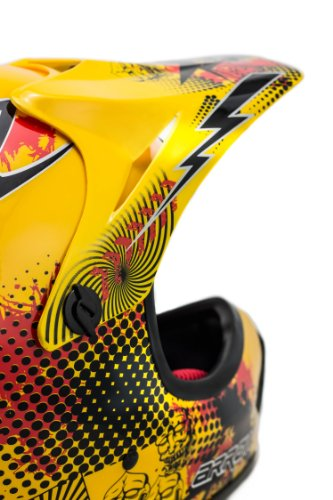 "ARMOR · AKC-49 ""Yellow"" (Gelb) · Kinder-Cross Helm · Enduro Kinder Off-Road Sport Motorrad Moto-Cross · DOT certified · Click-n-Secure™ Clip · Tragetasche · S (53-54cm) - 6"