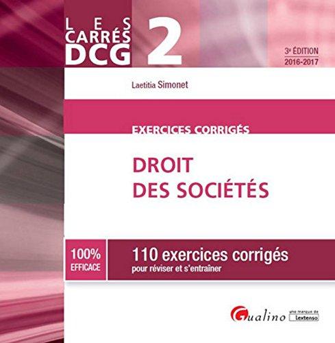 Carrés Exos DCG 2 - Exercices de Droit des sociétés, 3ème Ed.