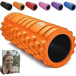 Rodillo de Espuma Foam Roller Pequeño Pilates para Terapia de Masaje - Para Muscular Fitness Pilates Yoga - La Mejor Herramienta de Masaje para Todo Deportivo - Tejido Profundo Liberación Miofascial