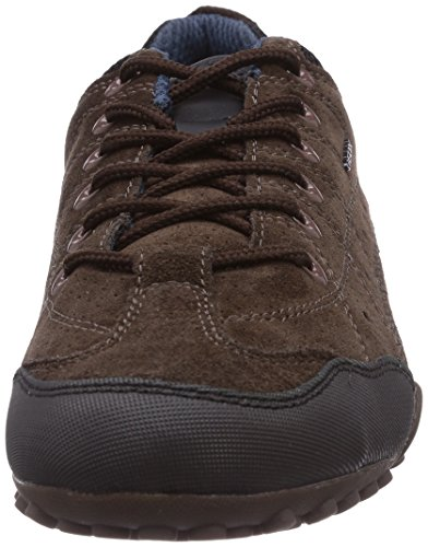 Geox Uomo Snake F, Baskets Basses homme Marron - Braun (CHESTNUT/BLACKC6458)
